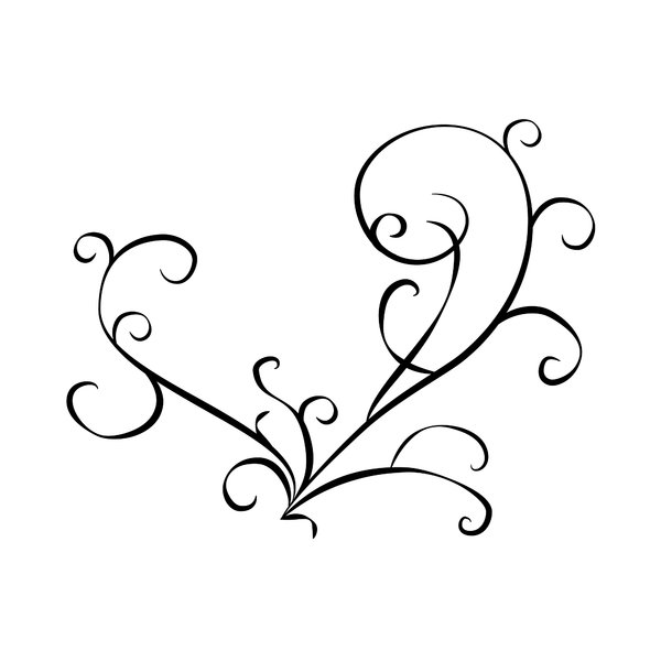 Black and White Swirl Design