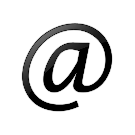 Black Email Logo Icon