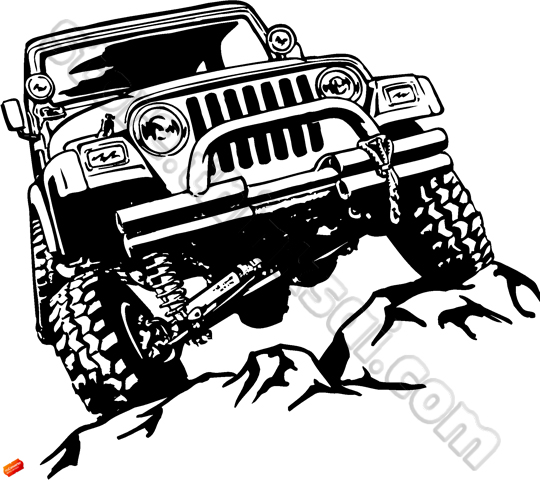 14 Funny Jeep Vector Images