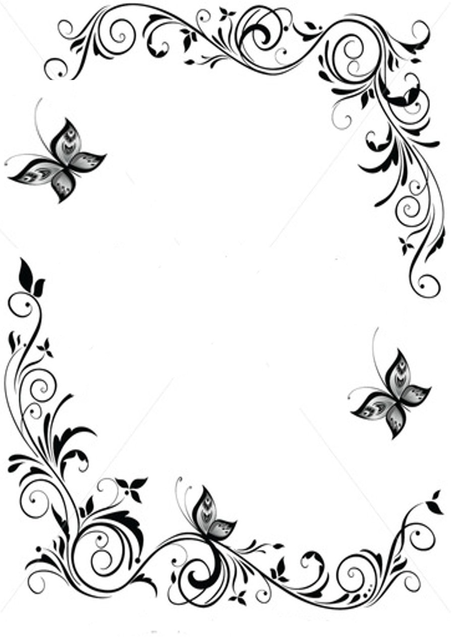 Butterfly Page Border Designs