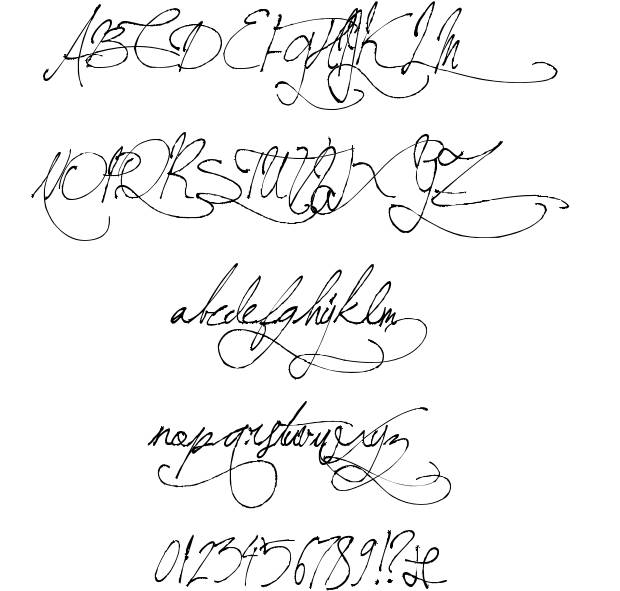 6 Handwritten Cursive Fonts Alphabet Images