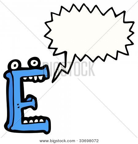 Cartoon Bubble Letter E