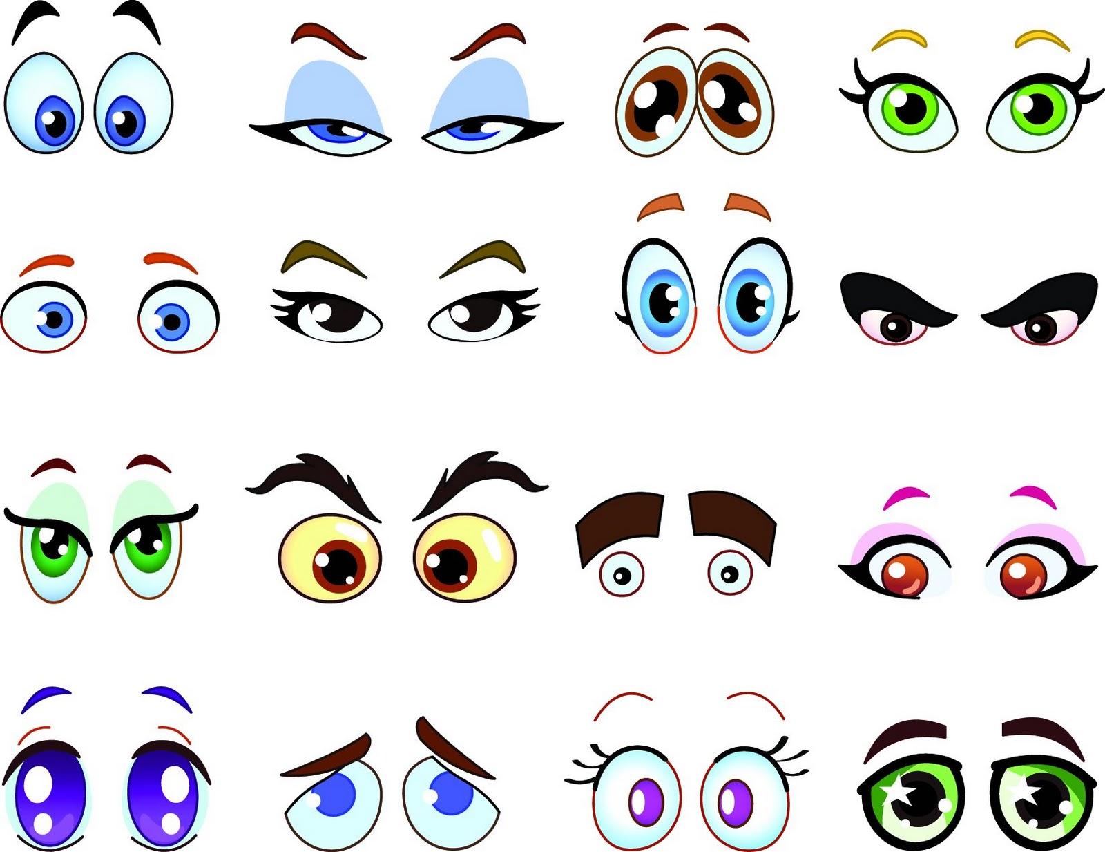 13 Happy Cartoon Eyes Vector Images