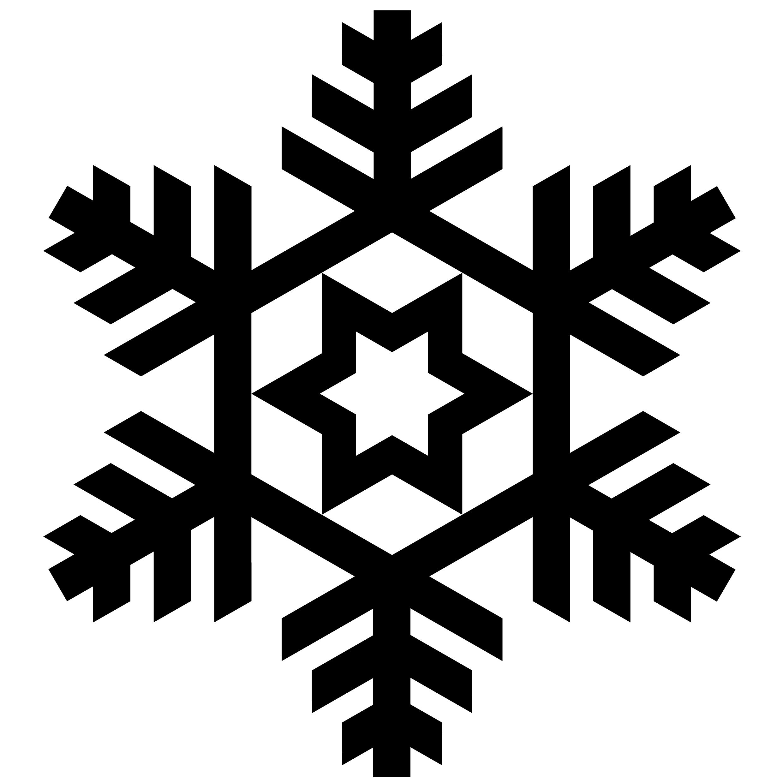 Christmas Snowflake Silhouettes