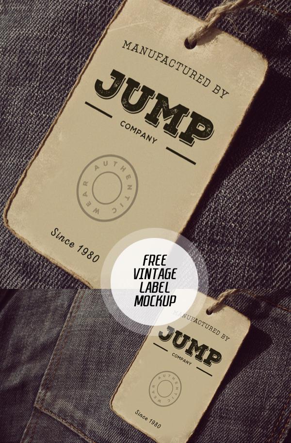 Clothing Label PSD Mockup