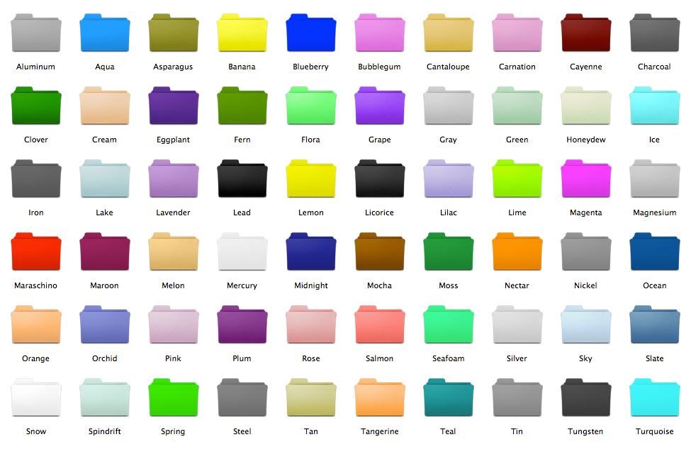 14 Mac Colored Folder Icons Images