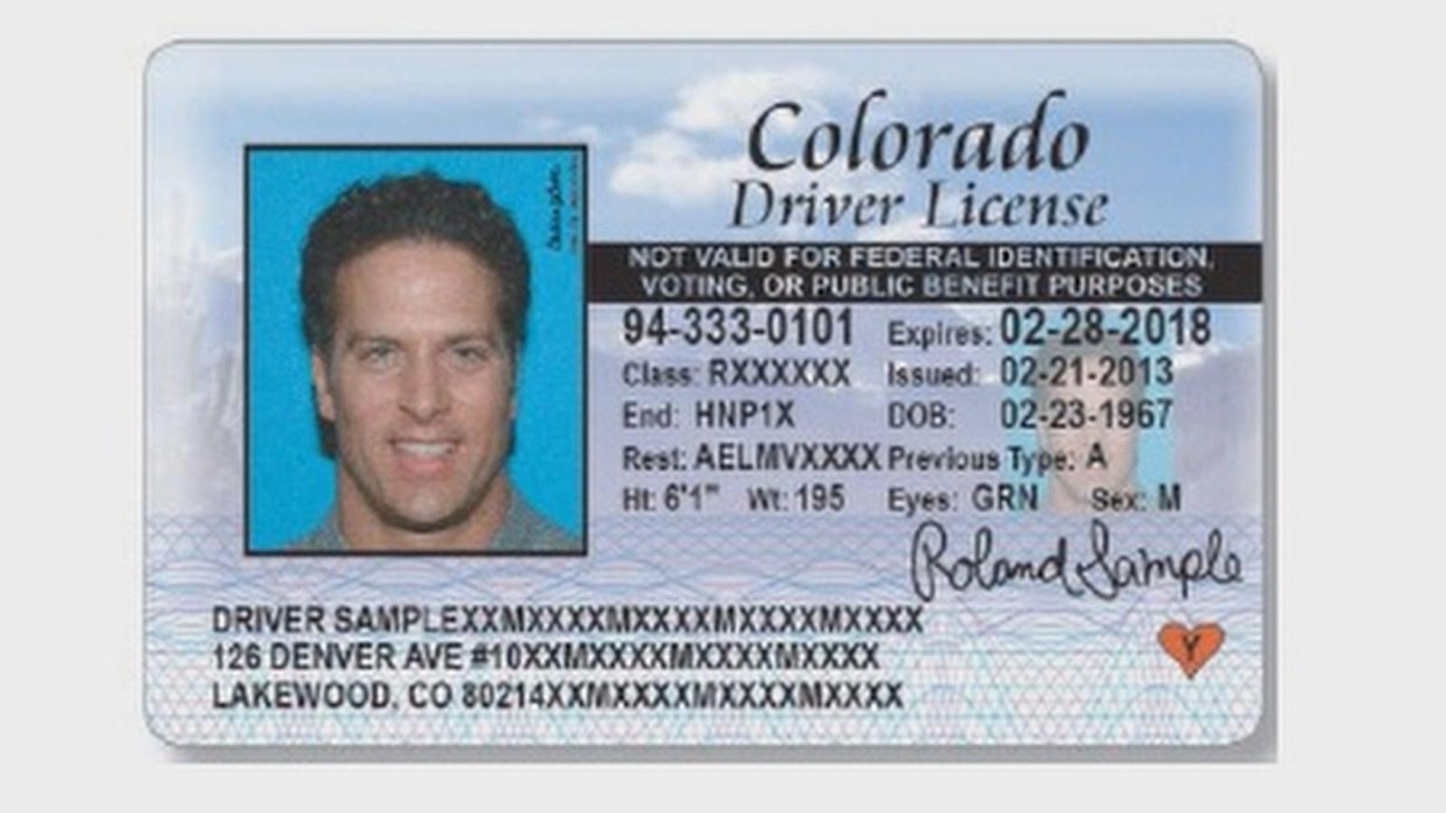Colorado Drivers License