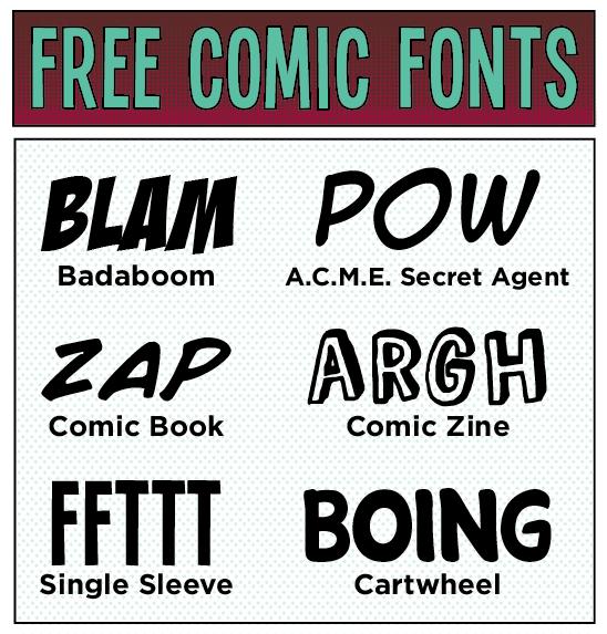 12 Comic Book Superhero Font Images