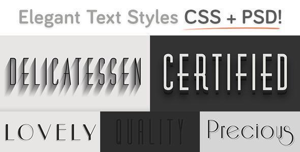 Cool CSS Text Styles