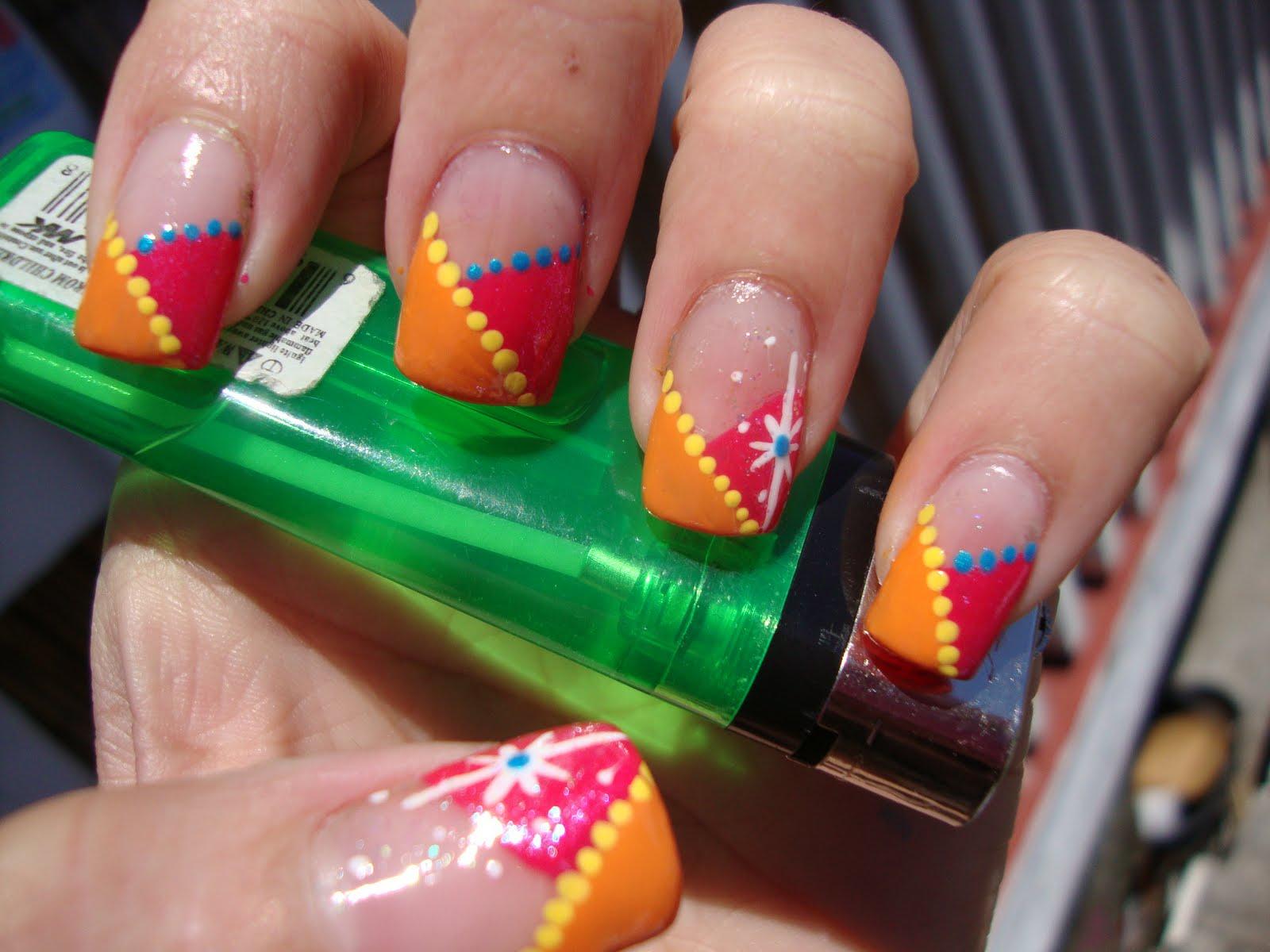 9 Crazy Nail Art Designs Images