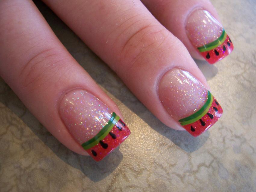 Cute Watermelon Nail Designs