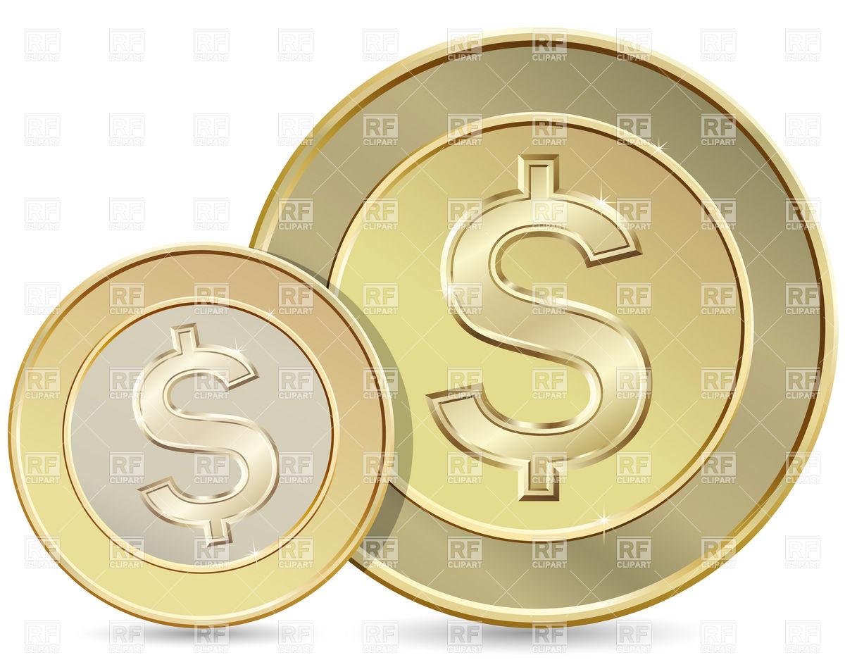 Dollar Coin Clip Art