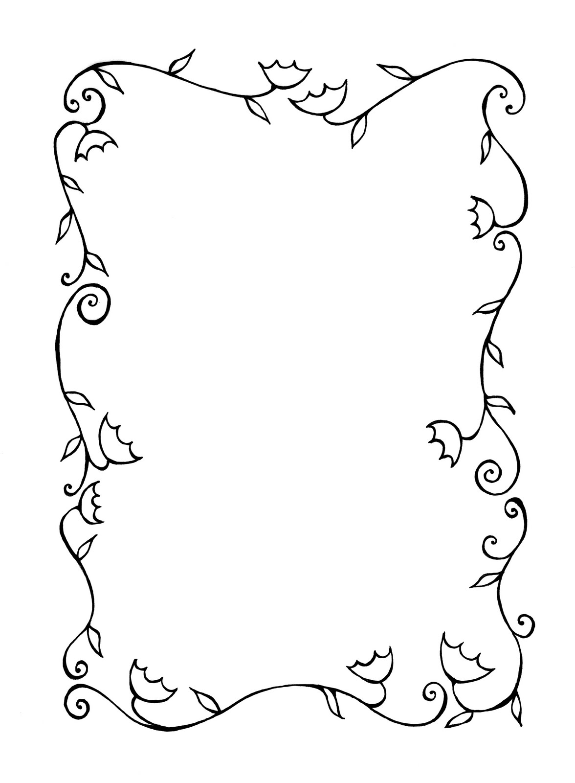 Drawing Flower Page Border Designs