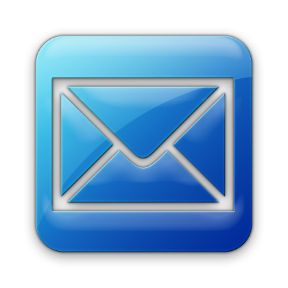 Email Contact Icon Blue Square
