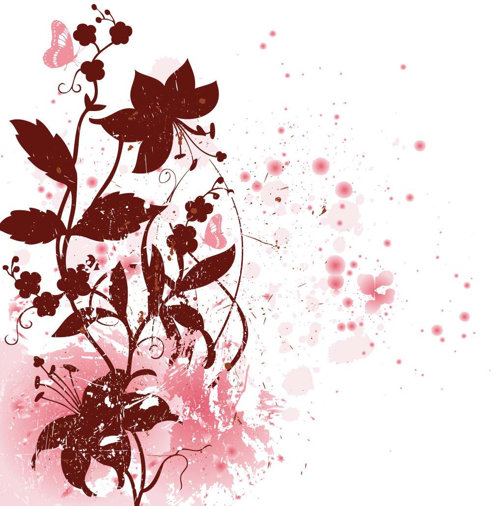 14 Free Vector Floral Background Images