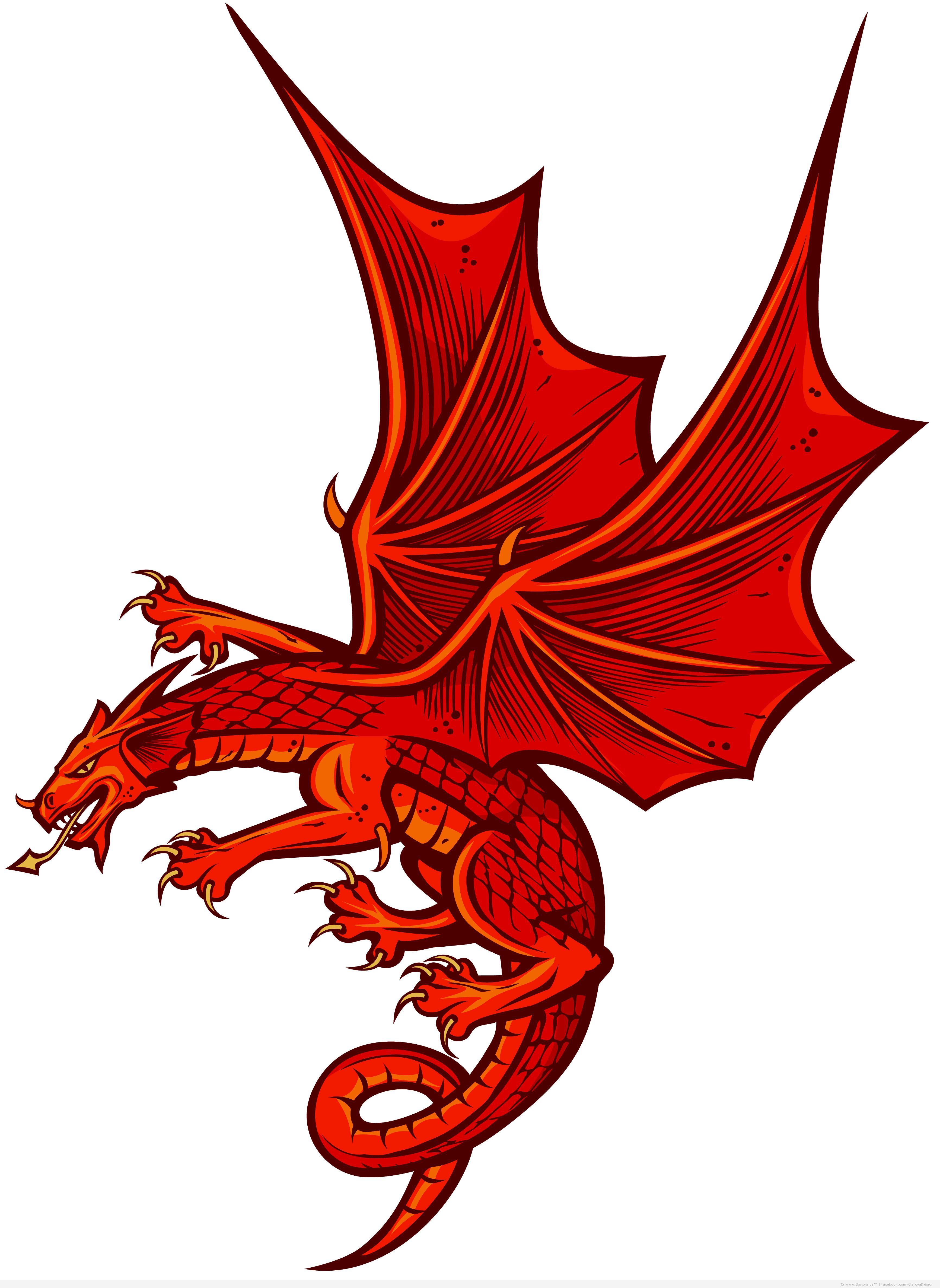 14 Red Dragon Cartoon Vector Images