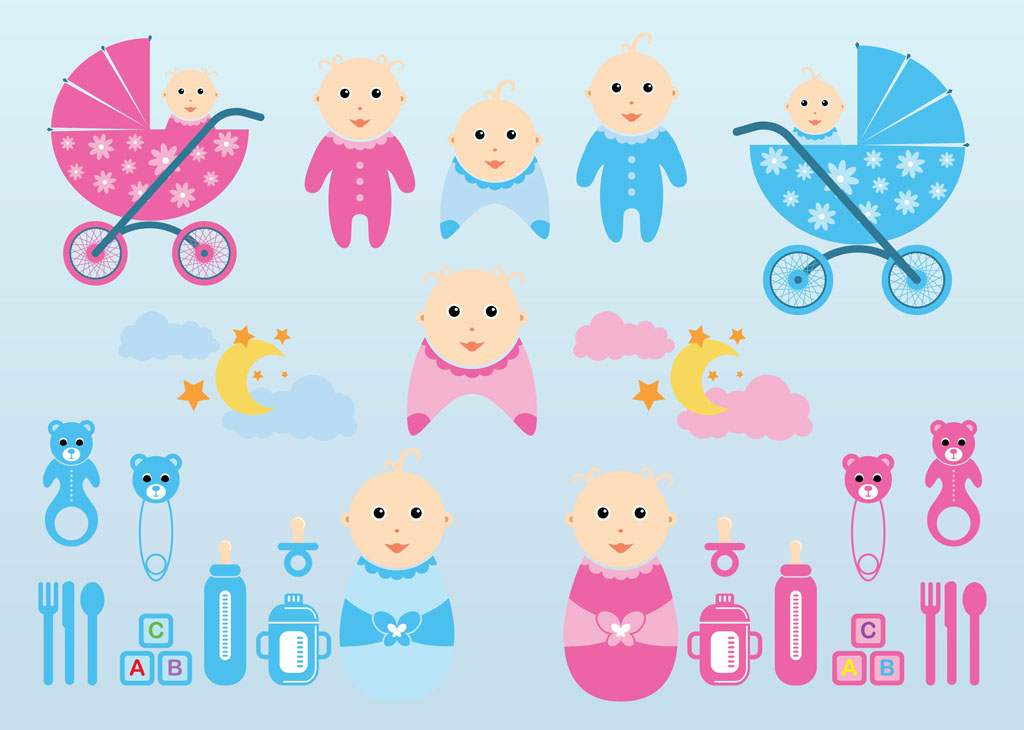 15 Baby Vector Graphics Images