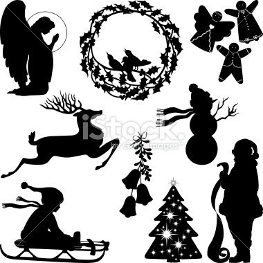 Free Christmas Vector Silhouette