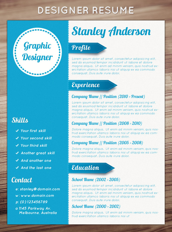 Free Creative Resume Design Templates