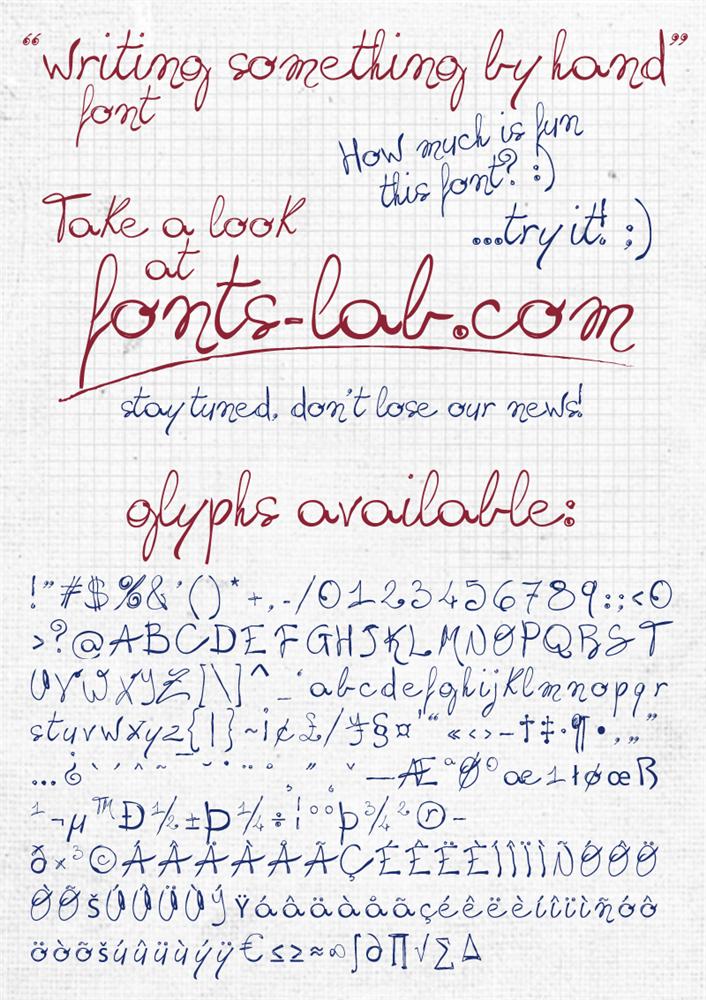 Free Handwriting Writing Fonts