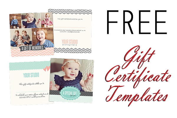 14 photography gift certificate psd template images for Photoshop certificate template