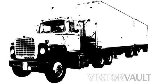6 Big Truck Vector Images