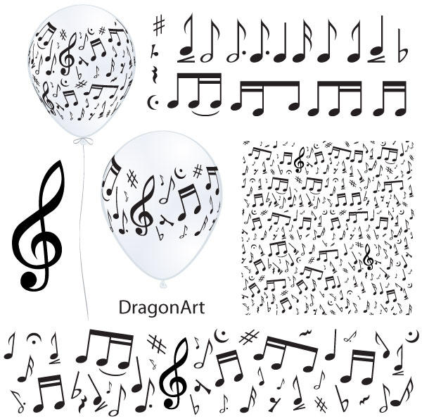 19 Music Notes SVG Vector Images