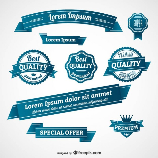 Free Vector Retro Ribbon Banner