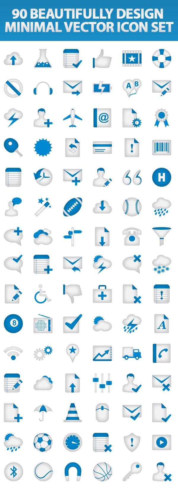 Free Vector Web Icons Design