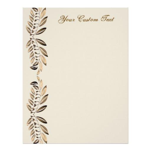 12 Elegant Letter Border Designs Images - Thank You Free ...