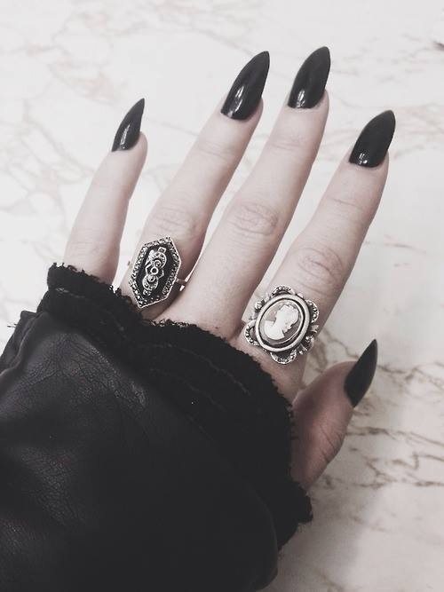 Gothic Stiletto Nails