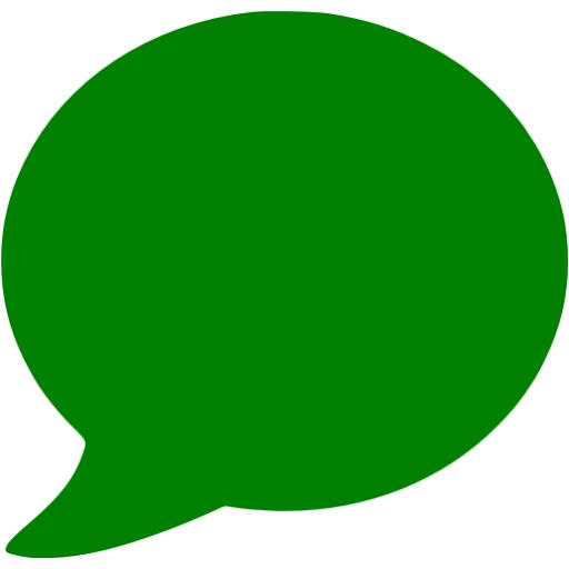 14 Green Talk Bubble Icon Images