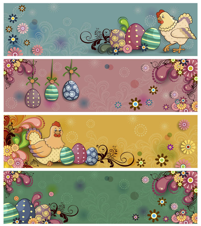 Happy Easter Banner Templates