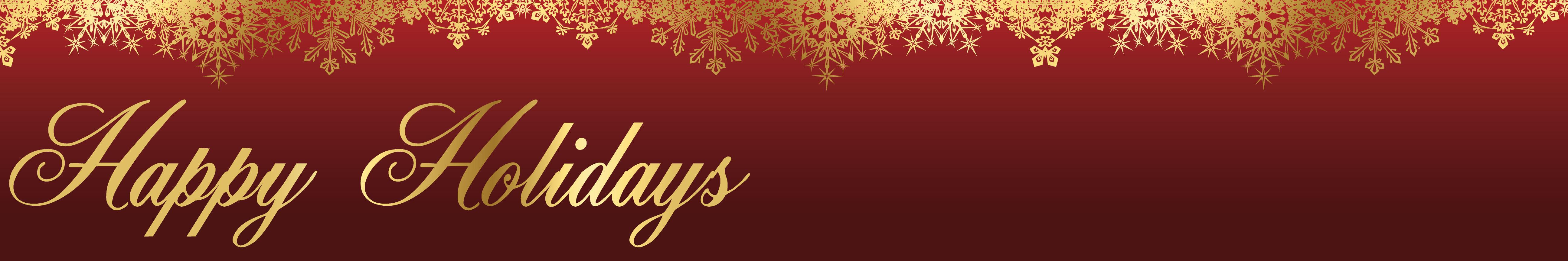 Happy Holidays Banner Design