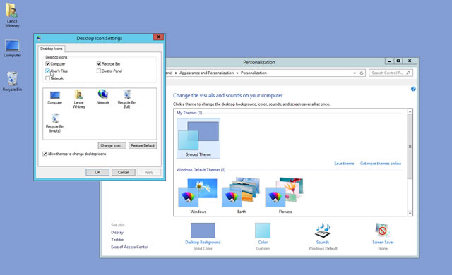 How to Add Desktop Icons in Windows 8