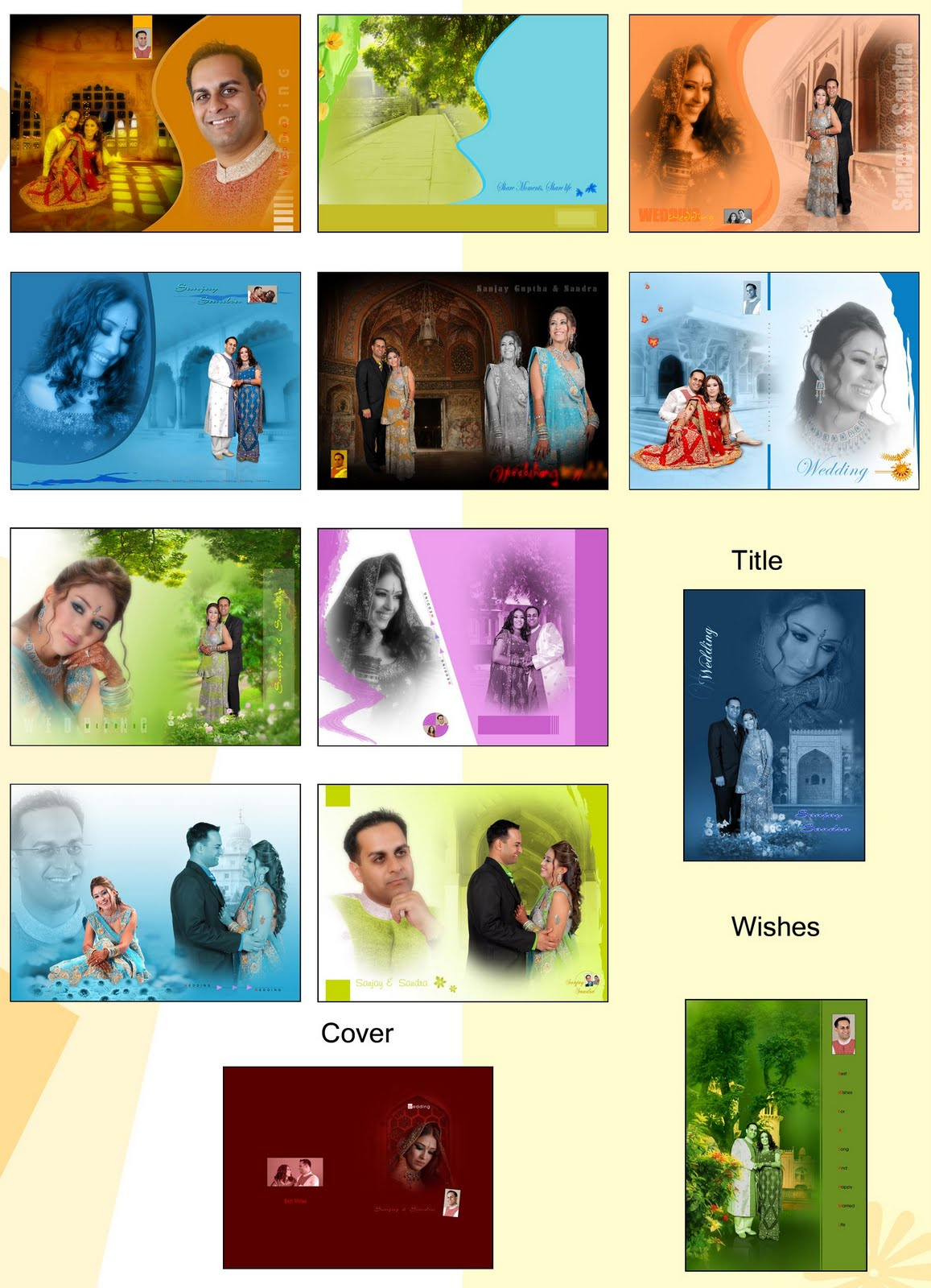Indian Wedding Album PSD Templates Free Download