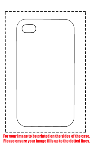 iPhone 4 Case Template Printable