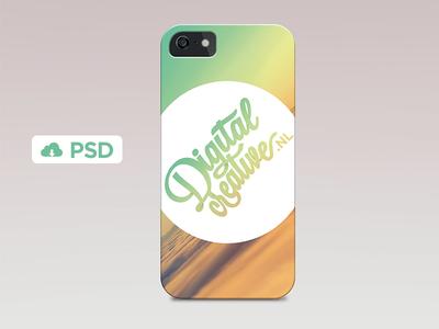 iPhone 5S Case Template PSD