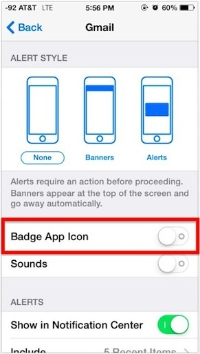 iPhone Badge App Icon Notification