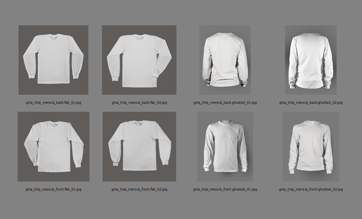 Long Sleeve Shirt Mockup Template