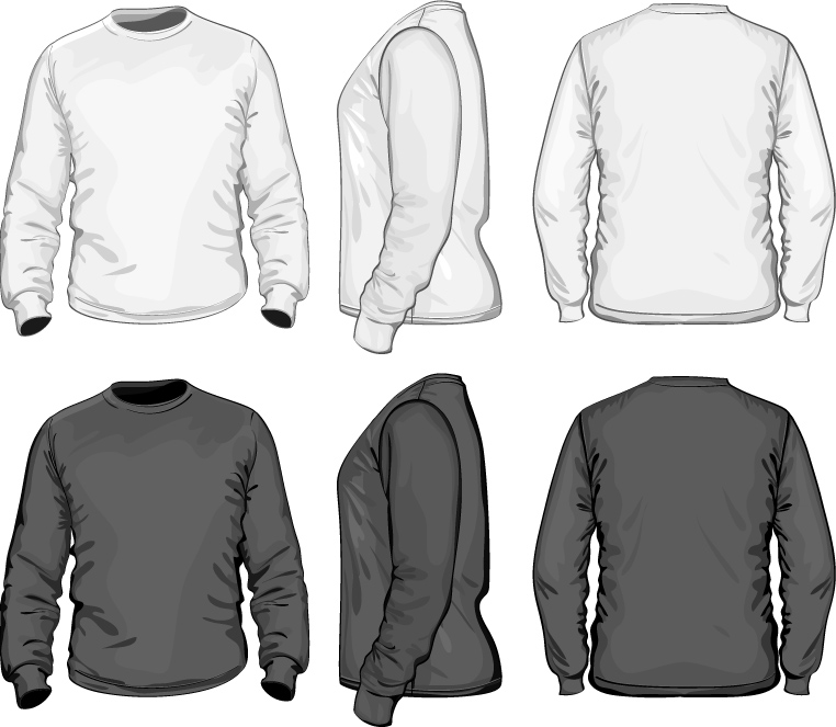 Men Long Sleeves Shirts Templates