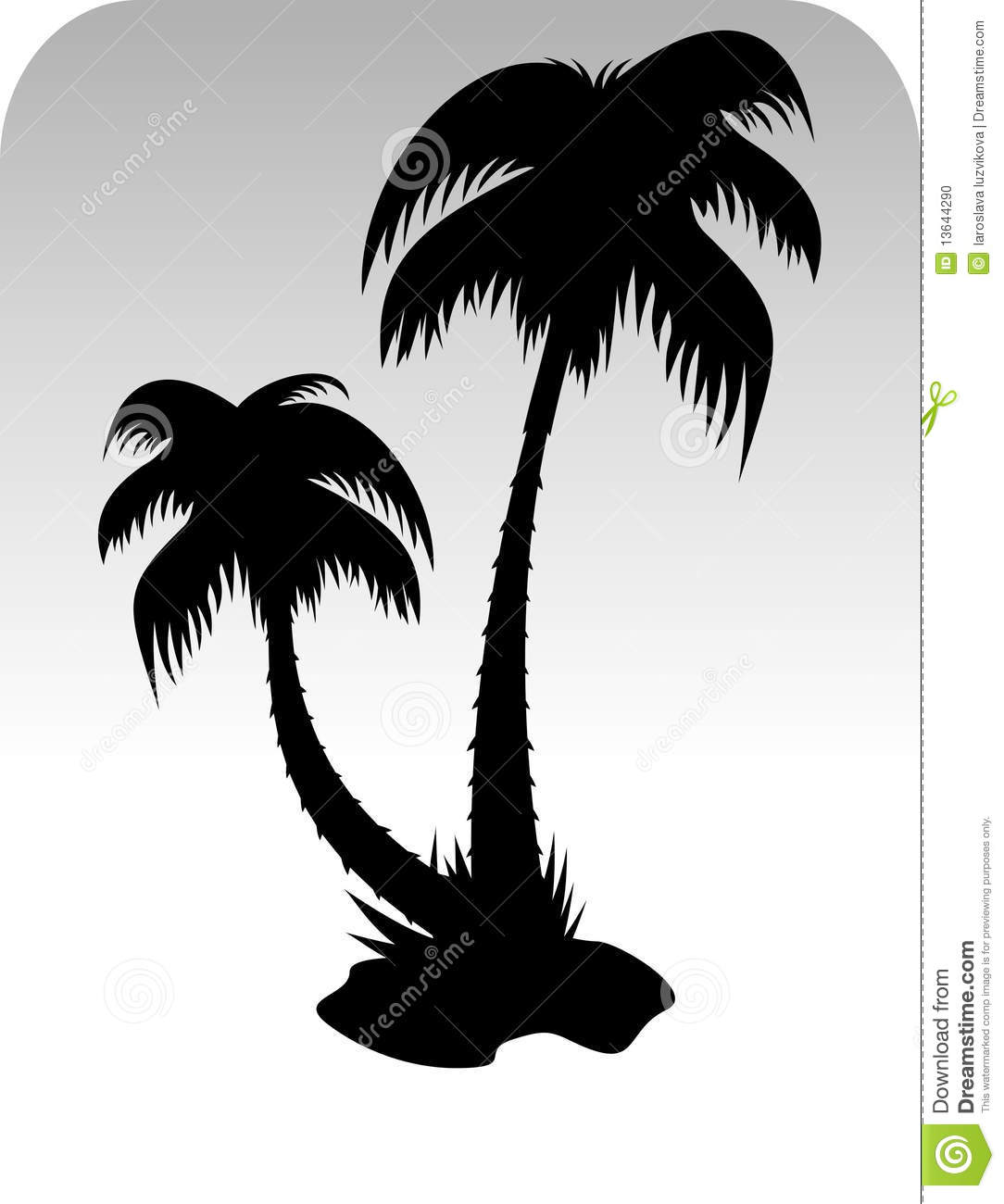 12 Tall Palm Tree Silhouette Vector Images