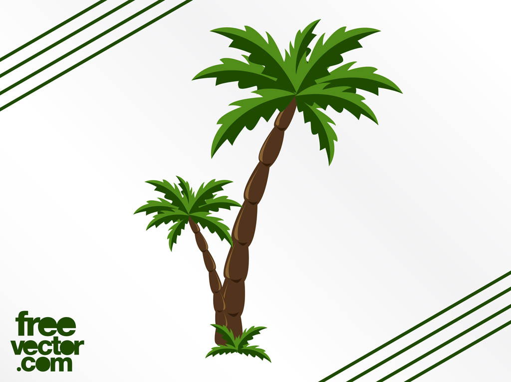 Palm Tree Vector Graphic Free