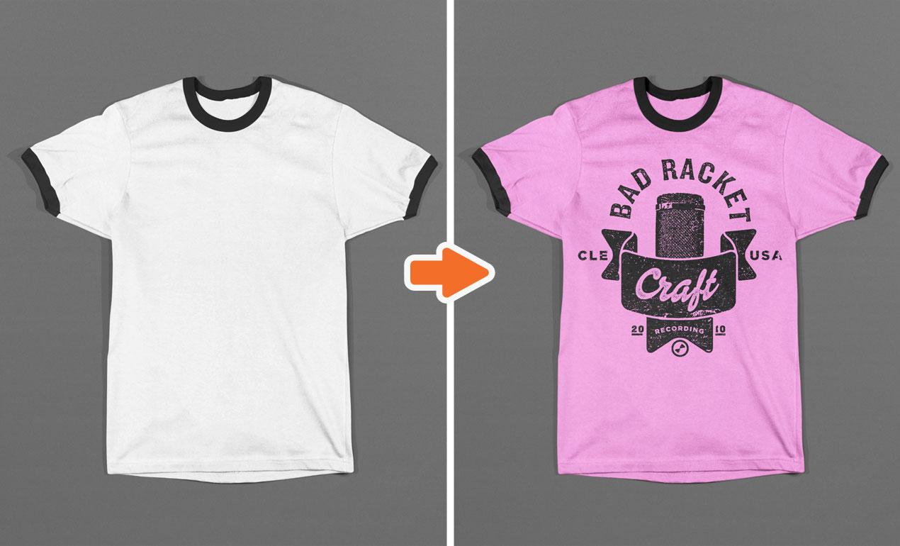 Photoshop T-Shirt Template Mockup