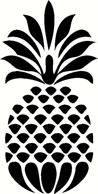 15 Pineapple Vector Black Images