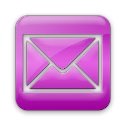 Pink Email Logo Icon