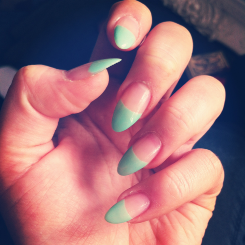 Pointed Acrylic Nails Tumblr