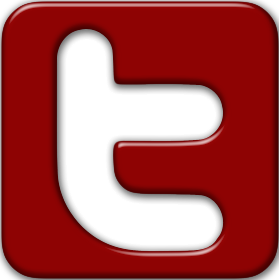 Red Facebook and Twitter Logo