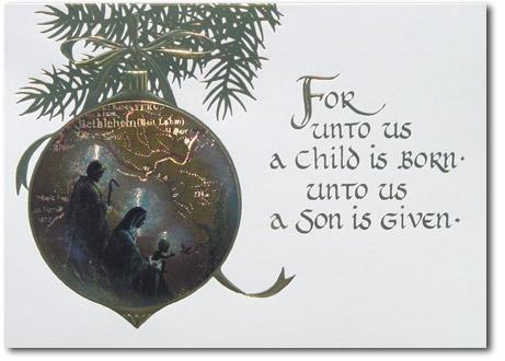 Religious Christmas Card Clip Art
