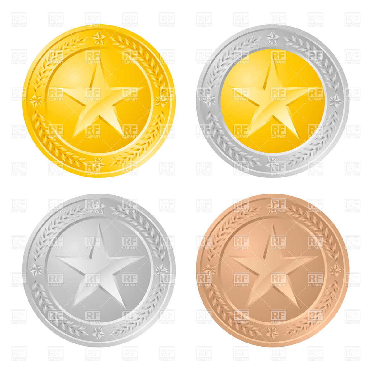 Silver Coins Clip Art Free